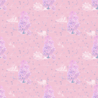 リラの花咲く家 ピンク