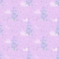 リラの花咲く家 パープル