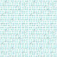 ブロックチェックカリグラフィー ブルー